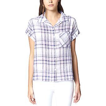 Sanctuary | Plaid Short-Sleeve Boyfriend Shirt