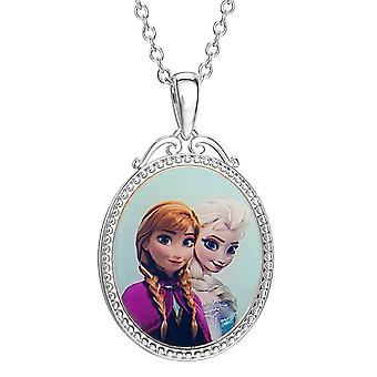 Frozen Elsa and Anna Silver Plated Pendant Necklace