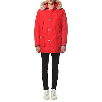 Woolrich Wocps2880ut0108msc Men's Red Cotton Outerwear Jacket