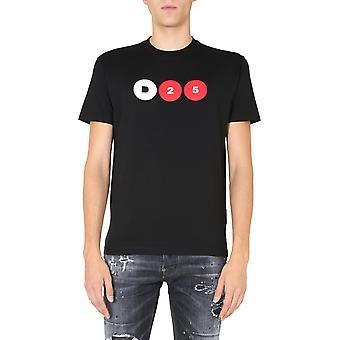 Dsquared2 S78gd0047s23009900 Män's Svart Bomull T-shirt