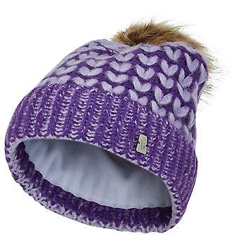 Spyder FLIGHT Girls Knit Bommel Winter Ski Hat Violet