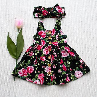 Autumn Long Sleeve -  Button Floral's Dress