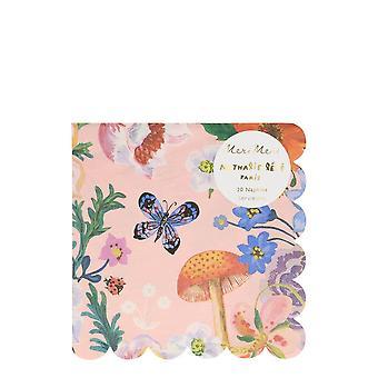 Meri Meri Nathalie Lete Flora Large Paper Party Napkins x 20