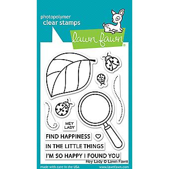 Lawn Fawn Clear Stamps - Hey Lady