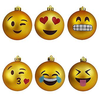 Christmas Tree Balls with Emojis