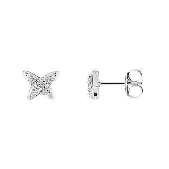 Vitguld Örhängen -apos;PAP-apos; Diamanter 0,1 karat