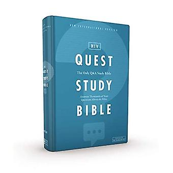 NIV, Quest Study Bible, Hardcover, Comfort Print: The Only Q and A Study Bible