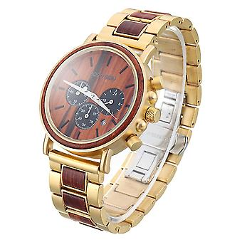 BOBO BIRD Luxury Wooden Wristwatches Date Display Fashion Men Quartz Watch