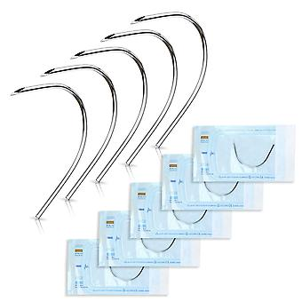 Curved piercing needles perfect to pierce ear nose belly nipple eyebrow labret