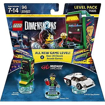 Lego Dimensions Level Pack Midway Retro Gamer Video Game Toy