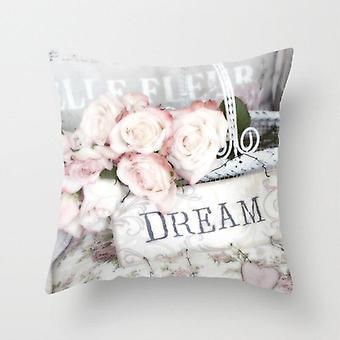Rose Flower Design Plyšové povlaky na polštáře