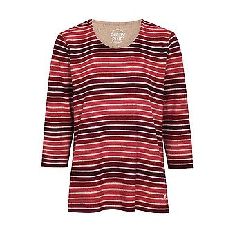 PENNY PLAIN Berry Striped Top