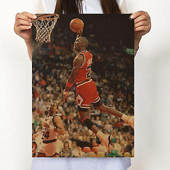 Vintage Basketball Star Michael Jordan Posters Home Decor Antique Poster