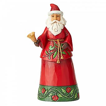 Jim Shore Heartwood Creek Santa With Bell