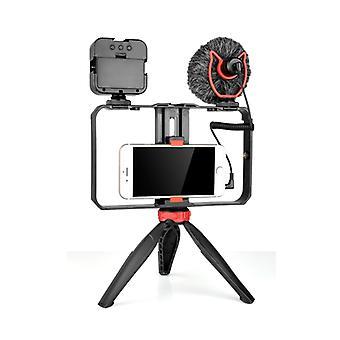 YELANGU PC204 YLG1801D Vlogging Suora lähetys LED Selfie Kevyt Älypuhelin Video Rig Kahva Stabilointi kiinnikkeet Mikrofoni && amp; Jalustaa