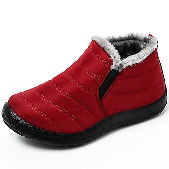 Vinterskor, Tjock päls varma ankelstövlar, skodon, Vattentät