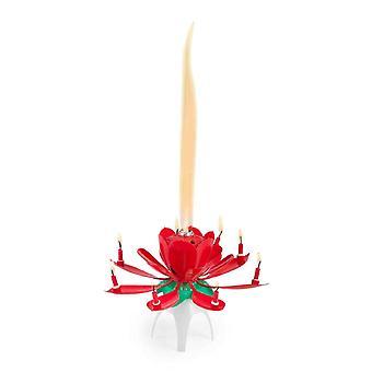Róża w kształcie muzycznego urodziny świeca dla cake dekoracja fountain efekt z muzyką
