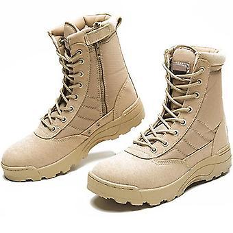 Mode Männer Stiefel Winter Outdoor Leder militärische atmungsaktive Armee Kampf Wüste