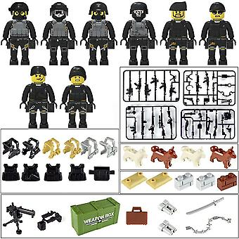 Military Special Forces Soldiers, Bricks Figures Guns, Weapons, Armed Swat