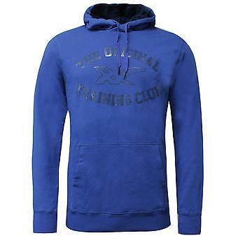 Asics Mens Graphic Hoodie Training Club Sweatshirt Blue Jumper 131532 8107