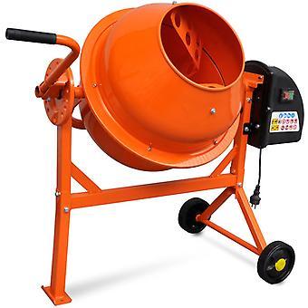 Concrete Mixer Electric 63 L 220 W Steel Orange