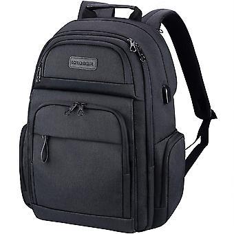 KROSER Travel Laptop Backpack Stylish 15.6 Inch Computer Backpack with Hard Shelled Saferoom