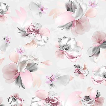 Lipsy Zachte Bloemblaadjes Roze Behang