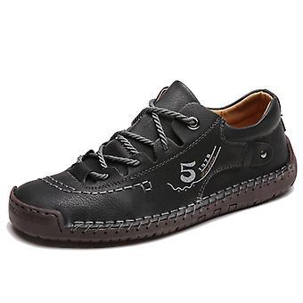 Zapatos de cuero de moda masculina 9931 Negro