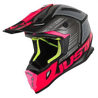 Just1 J38 MX Helmet Blade Fluo Fuchsia/Black Matt