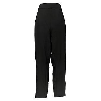 Martha Stewart Mujeres's Pantalones Más Ponte Punto Pull-On Tobillo Negro A342534