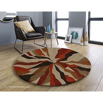 Splinter Orange Circle Rug