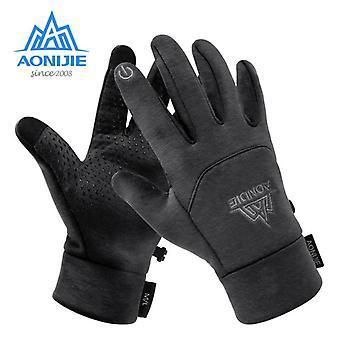 男性女性冬の熱タッチスクリーンフリース手袋、防風手袋