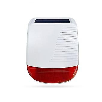 Vezeték nélküli solar sziréna, fényvas, stroboszkóp riasztó sziréna otthoni biztonság, Wifi