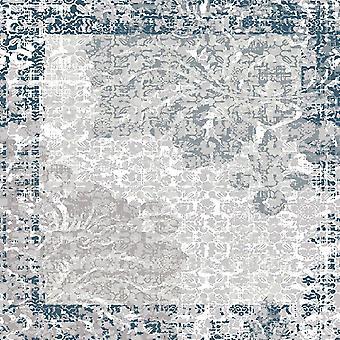 Tendências Étnicas 7 Tapete Impresso Multicolor em Poliéster, Algodão, L80xP120 cm