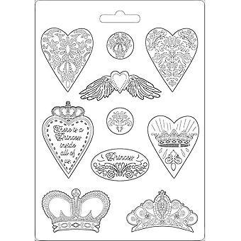 Stamperia Zachte schimmel A4 harten en kronen