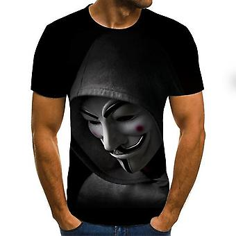 ジョーカーフェイス3DプリントテロファッションTシャツ
