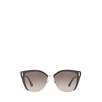 Prada PR 56TS brown / pale gold female sunglasses