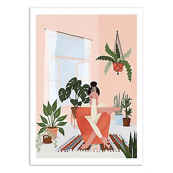 Art-Poster - Yoga and plants - Maja Tomljanic