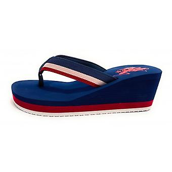 Slippers Us Polo Zeppa Mod. Hera Club Multicolor Blauw Tc 60 Pl 20 Ds20up22