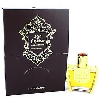 Oud Maknoon Eau De Parfum Spray (Унисекс) От Swiss Arabian 3.4 oz Eau De Parfum Spray