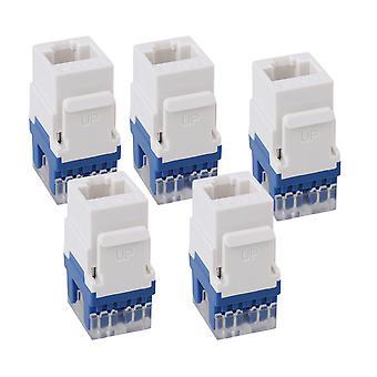 5 x 180 graders cat6 RJ45 Ethernet runde jack coupler keystone låsen