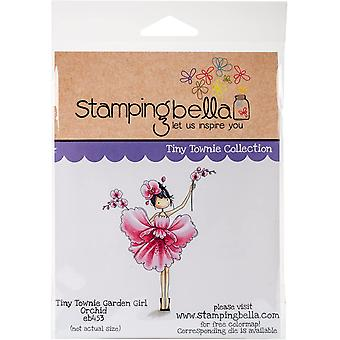Stamping Bella Cling Stamps - Garden Girl Orchid