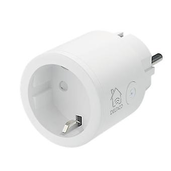 DELTACO SMART HOME switch, WiFi 2.4GHz, 1xCEE 7/3, 10A, timer, 220-240V, white