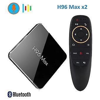 H96 max x2 android 8,1 tv-boks amlogic s905x2 lpddr4 4GB 64GB quad core 2.4g/5g wifi 4k smart media player h96max pk x96 max