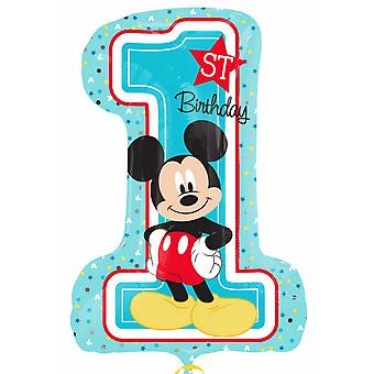 Anagram Supershape Disney Mickey Mouse 1st Birthday Balloon