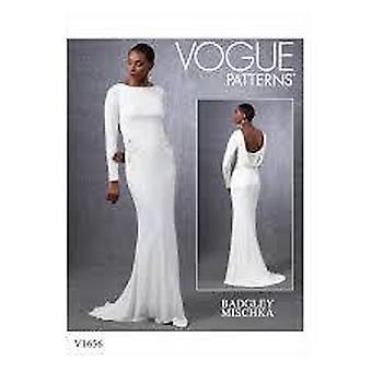 Vogue coser patrón 1656 se pierde vestido de noche tamaño 14-22 E5 diseñador sin cortar
