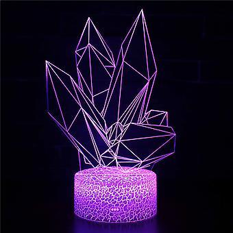 3D Optisk illusionslampa LED Night Light, 7 färger Touch Bedside Lamp Bedroom Table Art Deco Child Night Light med USB Cable Novelty Christmas Birthday Gift-#307