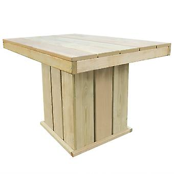 Garden Table 110x75x74 Cm Impregnated Pinewood