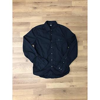 CP Company Vestuário Tingido Poplin Camisa de Manga Longa - Azul