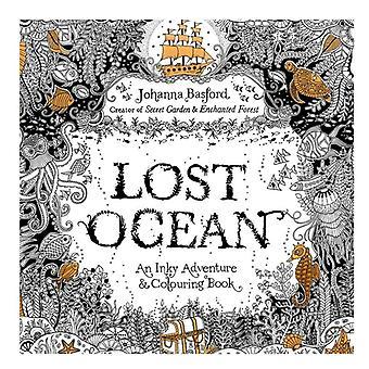 24 páginas 7.3 Polegadas English Edition Coloring Book Lost Ocean Adult Diy School